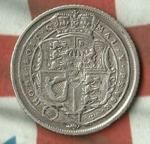 1819-King-George-III-Great-Britain-6-Pence-92-5-Silver-In-pretty-good-shape