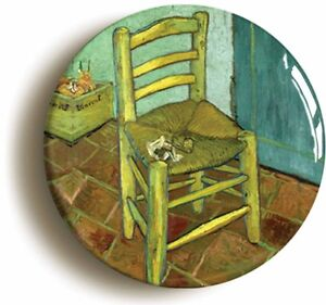 CHAIR-BY-VINCENT-VAN-GOGH-BADGE-BUTTON-PIN-1inch-25mm-diameter-ART