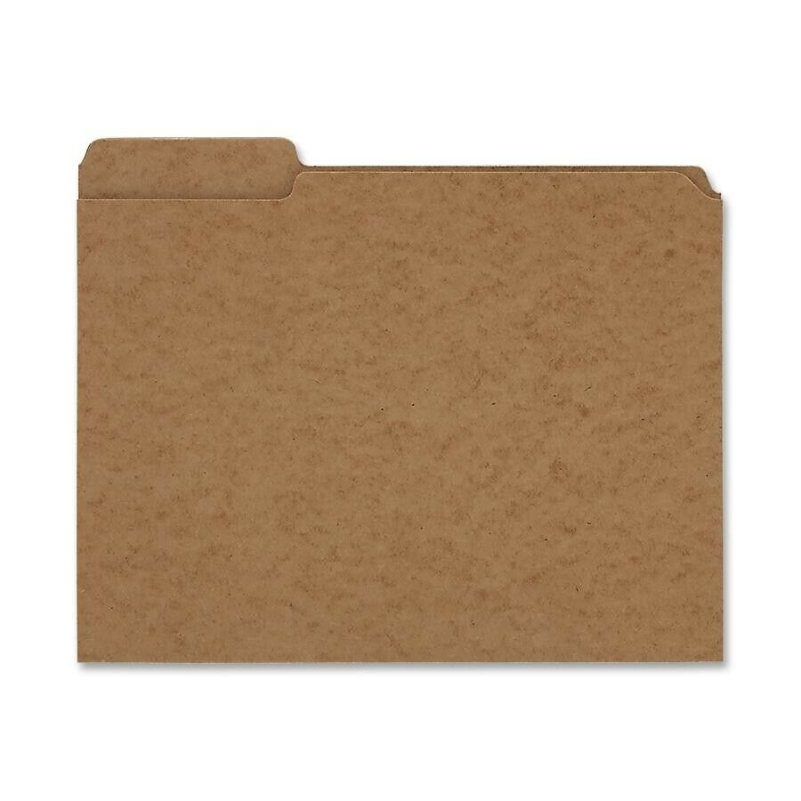 File Folders Reinforced Top Third Cut Assorted Tabs 11 Point Oxford Grade Kraft 100 Letter Size RK152 1//3 Oxford