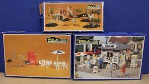 Pola-LGB-Accessories-Lot-968-Tools-969-Garden-Set-996-Kiosk-G-Scale-READ