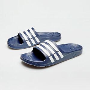 59c98d939f69 adidas Mens Duramo Slide Flip Flops Sliders Pool Beach Sandals Navy ...