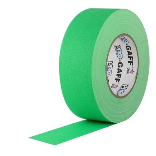 Pro Gaff Fluorescent Green Gaffers Tape 2 inch x 50  yards