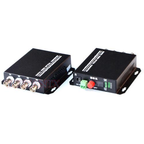 4 Channel Video Optical Converter fiber Video Transmitter receiver 4CH RS485 Dat