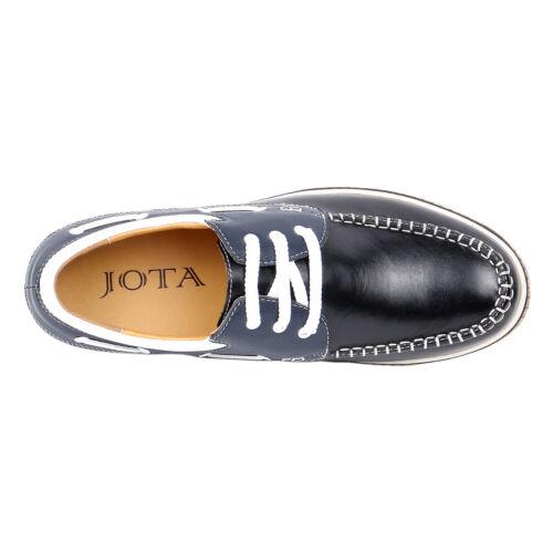 "Semi Tall Mens JOTA/'s Boat Black Moccasin Shoes 2.4/"" Height Taller GKC23"