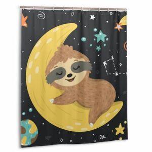 Funny Sleeping Baby Sloth Waterproof Shower Curtain ...