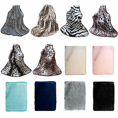 Faux Mink Thick Pile Throw Rug Blanket