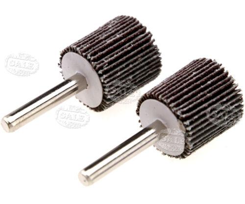 2pcs Flap Wheel Disc Sanding 25x25mm Abrasive for Drill 6mm Shank 40//80 Grit