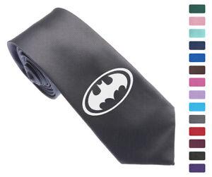 DC-Super-Hero-Batman-Logo-Skinny-Slim-Men-Woven-Silk-2-5-034-Tie-Necktie-K07