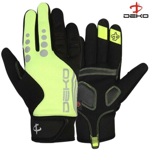 Full Finger Winter Cycling Gloves Cold Weather Waterproof Windproof Touch Screen