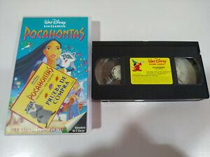 Pocahontas-los-Clasicos-de-Walt-Disney-VHS-Espanol