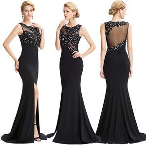 Mujer-Sexy-Largo-Vestido-Fiesta-Noche-Graduacion-Dama-De-Honor-Baile-Gala-CoCTEL