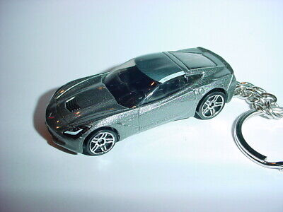Apparel & Merchandise Independent New 3d Silver 2014 Chevrolet Corvette Stingray Custom Keychain Sting Ray Keyring 100% High Quality Materials
