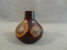 "TAKAHASHI San Francisco POTTERY Small FLOWER Brown VASE 2 3/4"" Made in JAPAN"