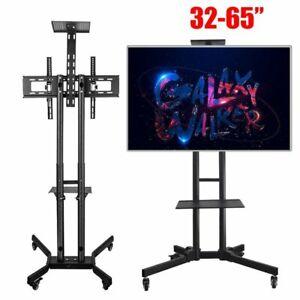Adjustable-Mobile-TV-Stand-Mount-Universal-Flat-Screen-Rolling-TV-Cart-32-65