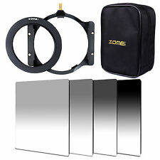 ZOMEI 4x6in. GND ND2 ND4 ND8 ND16 filter 77mm ring Holder 16 Slot Case for Cokin
