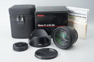 Sigma-50mm-f-1-4-F1-4-EX-DG-HSM-AF-Lens-For-Nikon-F-Mount-Boxed