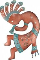 Kokopelli Wall Decor, Mount Arts Home Colorful Flute Metal Handcrafted Gifts on Sale