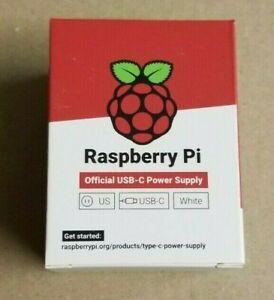 BRAND NEW Genuine Raspberry Pi 4 Power Supply USB-C 5.1V 3A USA @ FREE FAST SHIP