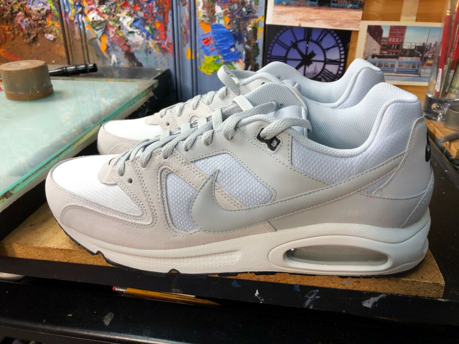 premium selection 5f8a1 69c67 Nike Air Max Command Summit White Platinum Leather Size US 14 Men 629993  102 New