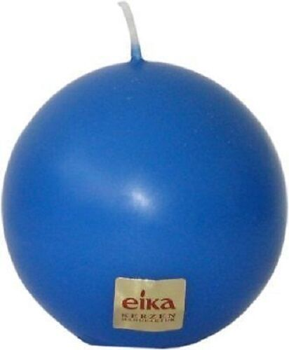 KUGELKERZE 70 mm Kugelkerzen Kerze Kerzen von EIKA in blau MITTELBLAU 95