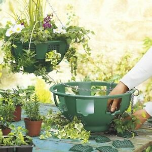 14-Easy-Fill-Hanging-Baskets-GREEN-garden-flower-container-Spare-Panels