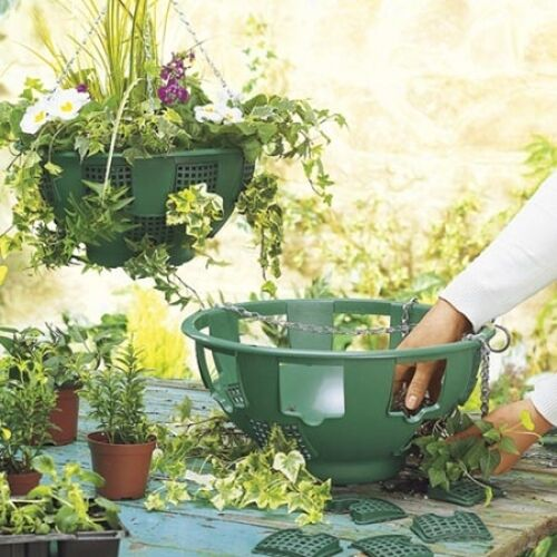 """Spare Panels & Chains for14"""" Easy Fill Hanging Baskets & swivel hooks & baskets"""