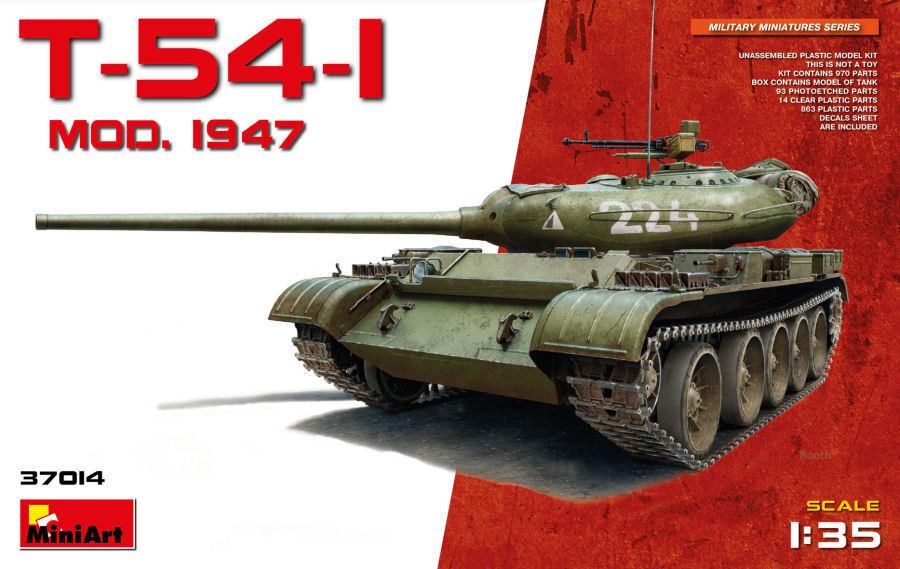 T-54-1 Mod.1947 Tank Plastic Kit 1 35 Model MINIART