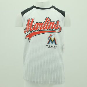Image is loading Youth-Size-Miami-Marlins-Official-MLB-Merchandise-Athletic- 641bfd8cdc06