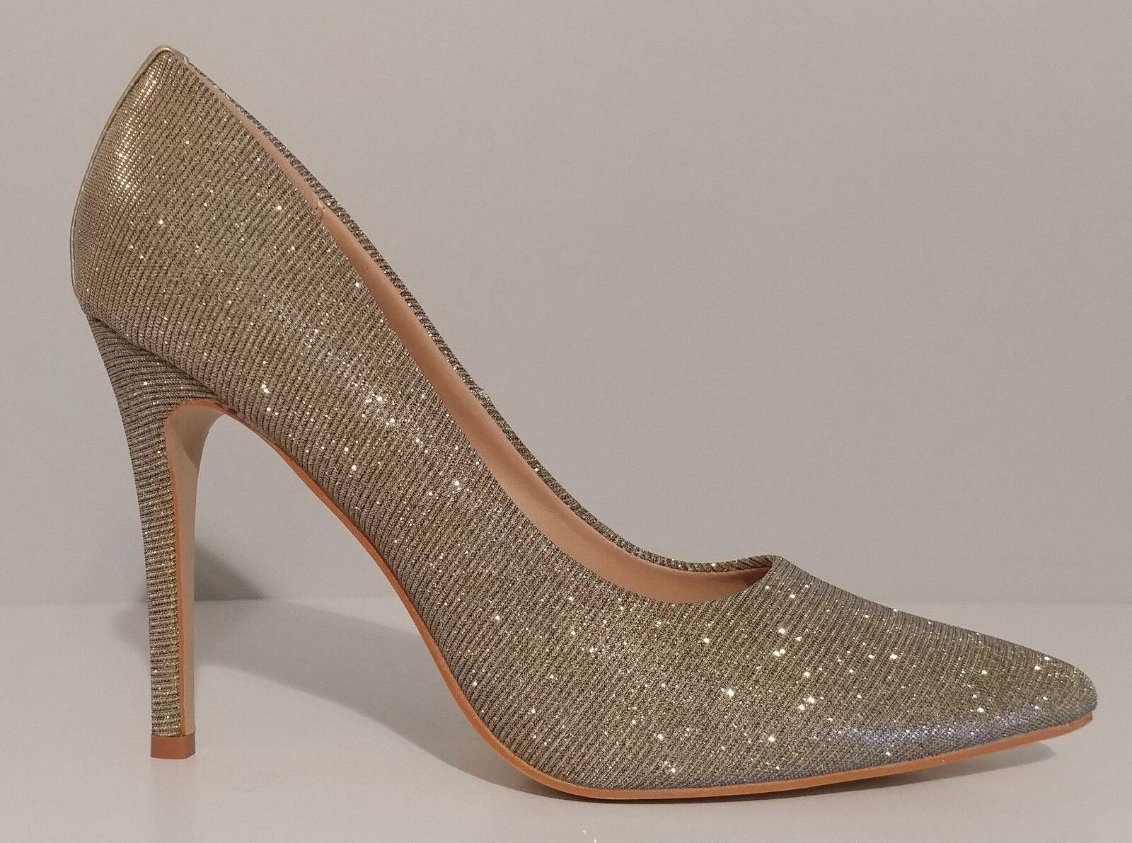 NEW Glaze Gold Champagne Classic Pumps 4    Heels Größe 8M US 38M EUR d1e4a8