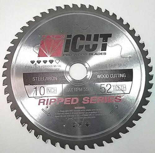 iCut™ Ferrous Metal Steel Cutting Carbide Blade C-6 TRIPLE CHIP/ATB Iron Rebar