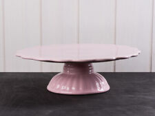 Tortenplatte Fuß Mynte Keramik Rosa Kuchenplatte Shabby Laursen 2079-07