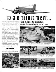1949-Aero-service-corp-airplane-magnetometer-Africa-vintage-photo-Print-Ad-adL20
