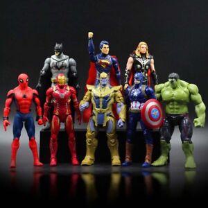 2019-8pcs-Avengers-Thanos-Bat-Iron-Men-Captain-America-Thor-Hulk-Figures-Set-Toy