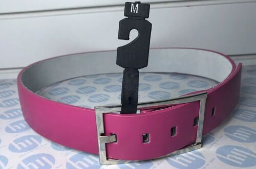 Ladies And Men's Genuine Leather Belt Pink Colour Size M 45mm WideX104 Long