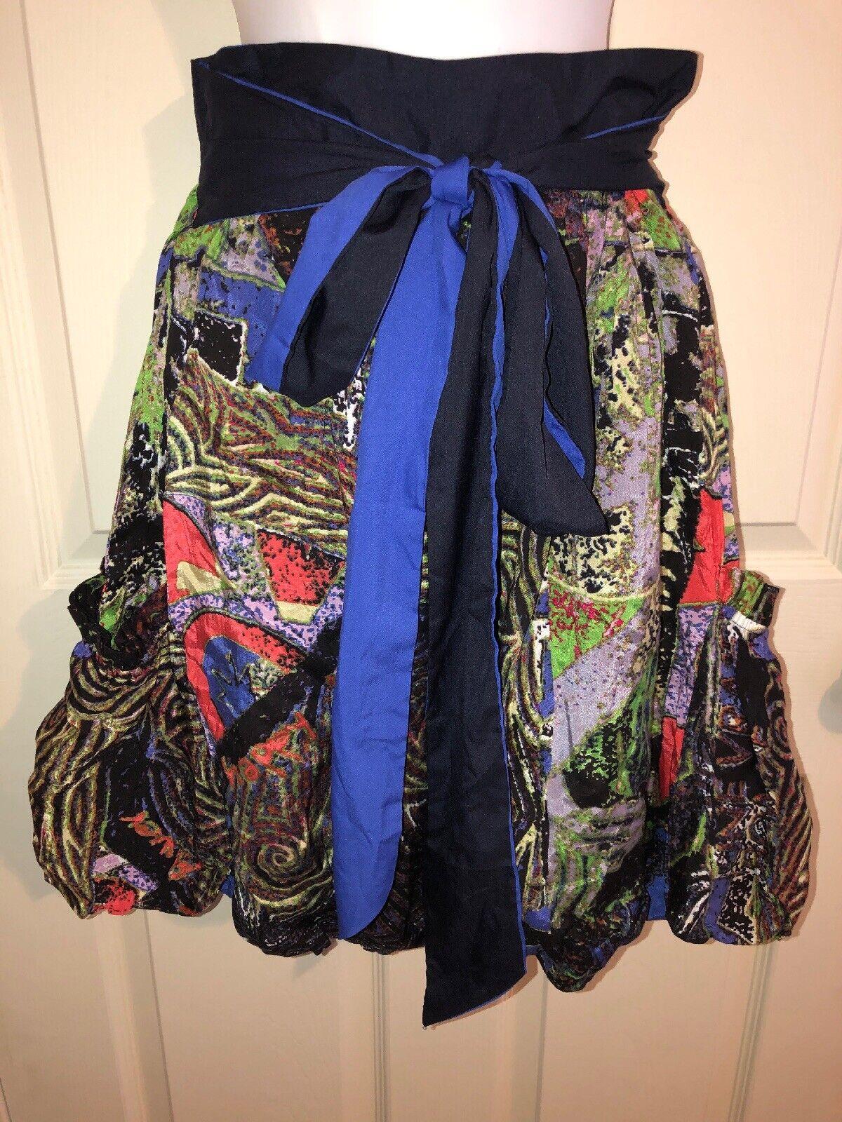 Desigual Wild Printed Balloon Skirt Nwt Sz 40