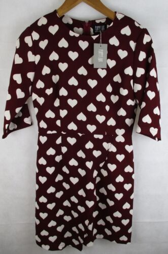 no Over Nancy 10 Dress Nwt 5055638253200 Poppy Wrap Uk Style Size 2 Ladies Lux Heart w71YnxwZq