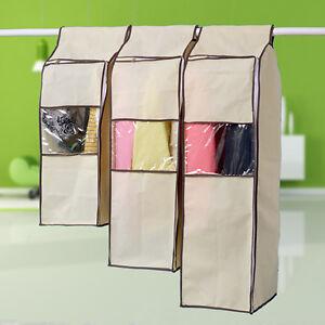 non woven cloth wardrobe storage bag hanging garment suit coat dust cover bag. Black Bedroom Furniture Sets. Home Design Ideas