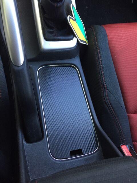 2013 - 15 Honda Civic SI R18 Cup Holder Cover Carbon Fiber Pattern Cupholder FB6