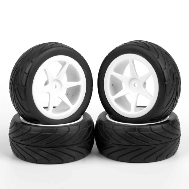 4PCS 1/10 On-Road Buggy Car Front&Rear Tires Wheel 12mm Hex For HSP HPI RC