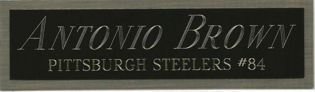more photos 2bab8 dff62 ANTONIO BROWN STEELERS NAMEPLATE AUTOGRAPHED SIGNED FOOTBALL HELMET JERSEY  PHOTO