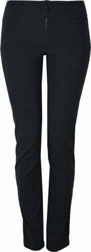 Womens Smart Slim Fit Stretch Trousers Uniform Work Office Multi Leg KK30//31//32