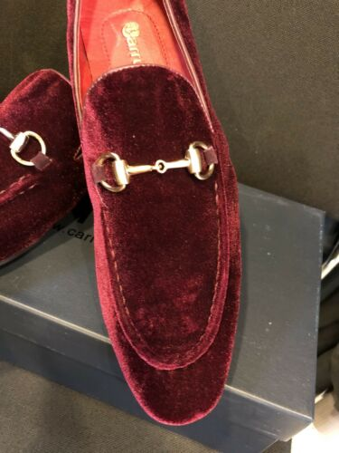 b79e096ae3a10 1 of 8 NEW CARRUCCI Burgundy Loafer Men's Dress Velvet & Suede Leather  Shoes ...