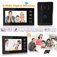 7 Lcd Wireless Video Door Phone Doorbell Intercom Monitor Home Security Uk