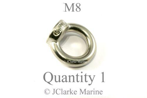 M8 8mm Eye lifting nut DIN 582 marine stainless steel (316 A4) (Female eye bolt)