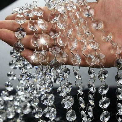 16.5FT 5M Clear Acrylic Octagon Beads Garland Chandelier Hanging Wedding Chain