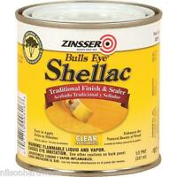 Six 1/2 Pint Cans Clear Zinsser Bulls Eye Ready-to-use Shellac 0316