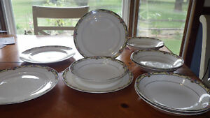 Vintage Taylor Smith & Taylor China Bowls Salad Plates TST China Co TST715 11pcs