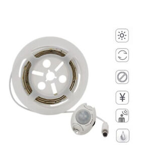 Motion-Activated-LED-Sensor-Strip-Waterproof-Under-bed-warm-light