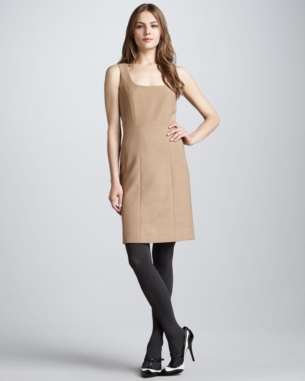 325 NWT Tory Burch Azalea Sheath Dress in New Camel  Sz 4  Sold out