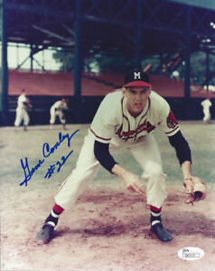 1957-BRAVES-Gene-Conley-signed-8x10-photo-22-JSA-COA-AUTO-Autographed-Milwaukee